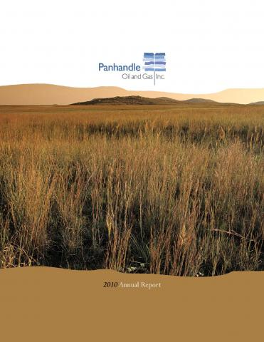 Cover of the 2010 Annual Report for Panhandle Oil and Gas Inc.