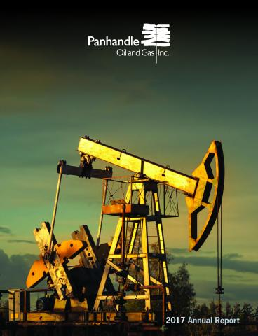 Cover of the 2017 Annual Report for Panhandle Oil and Gas Inc.