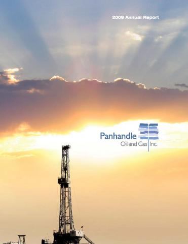Cover of the 2009 Annual Report for Panhandle Oil and Gas Inc.