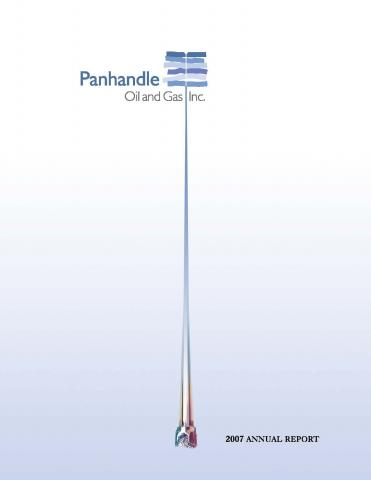 Cover of the 2007 Annual Report for Panhandle Oil and Gas Inc.
