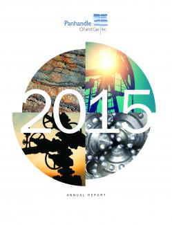 Cover of the 2015 Annual Report for Panhandle Oil and Gas Inc.