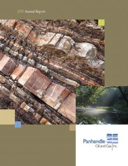 Cover of the 2011 Annual Report for Panhandle Oil and Gas Inc.