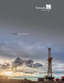 Cover of the 2018 Annual Report for Panhandle Oil and Gas Inc.